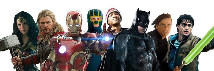 Superhero Title Banner